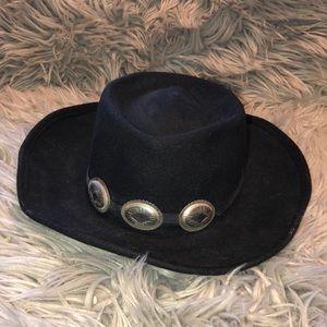 Vtg wool western boho cowboy fedora hat wide brim